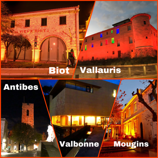"Antibes-Vallauris-Sophia-Antipolis-Mougins""ORANGER LE MONDE"""