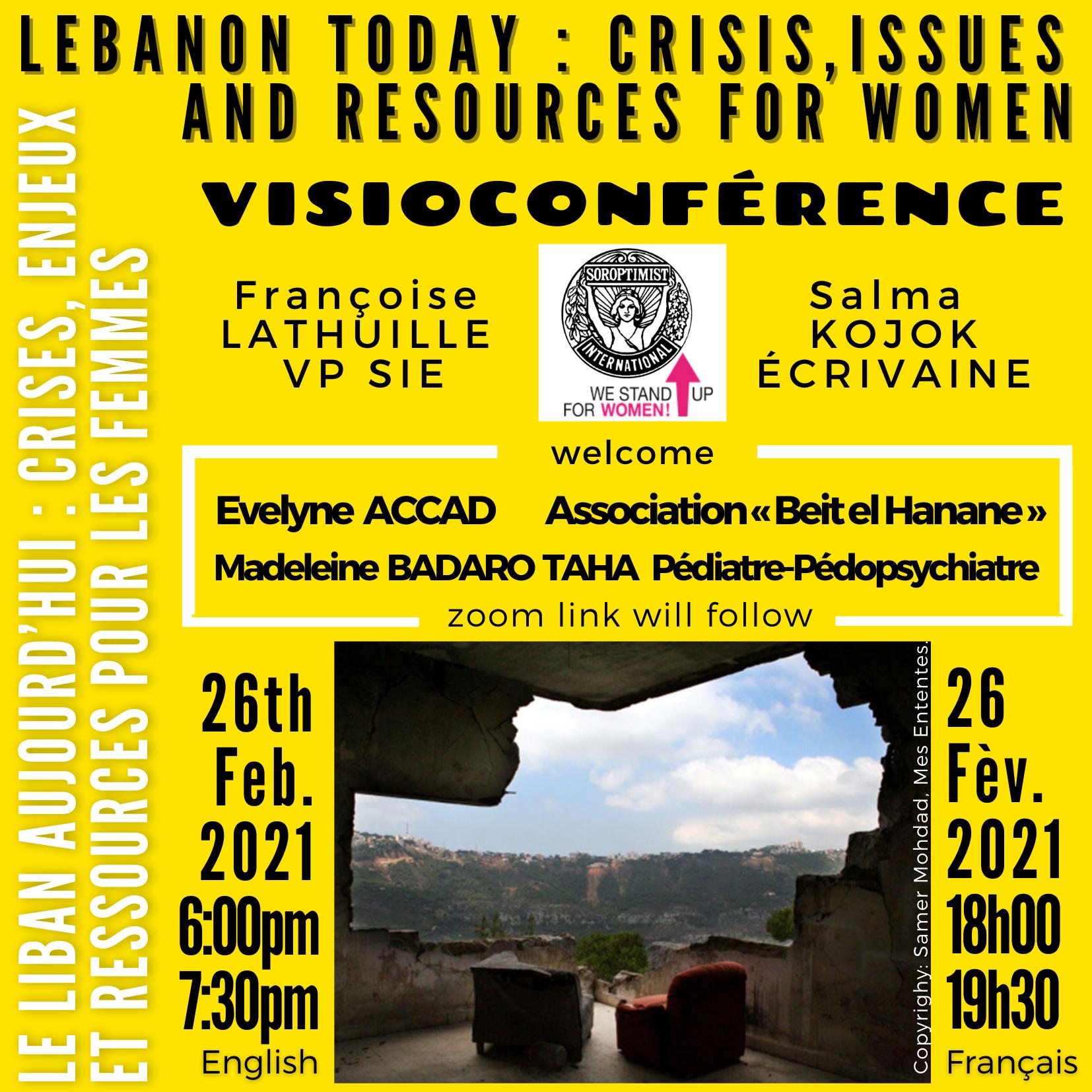 Visio conférence sur le LIBAN