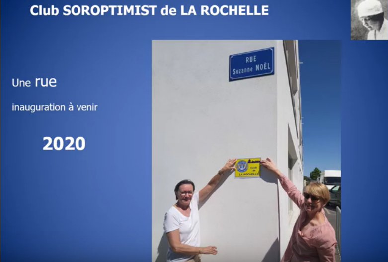 "Une rue ""Suzanne Noël"" à La Rochelle"