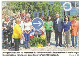 Un rond point Suzanne Noël pour le SI club Saint Raphaël-Fréjus