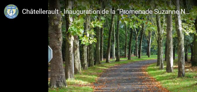 """Inauguration de la promenade """"Suzanne Noël"""" par le SI club de Chatellerault"""