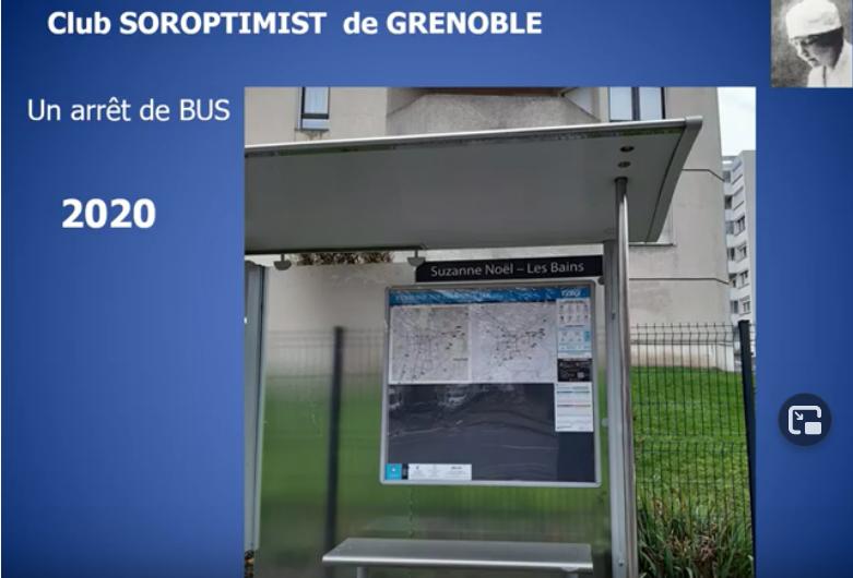 """Un arrêt de bus """"Suzanne Noël"""" par le SI club de Grenoble"""