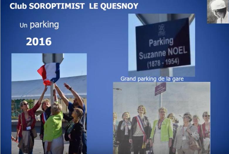 """Un parking """"Suzanne Noël"""" par le SI club Le Quesnoy"""