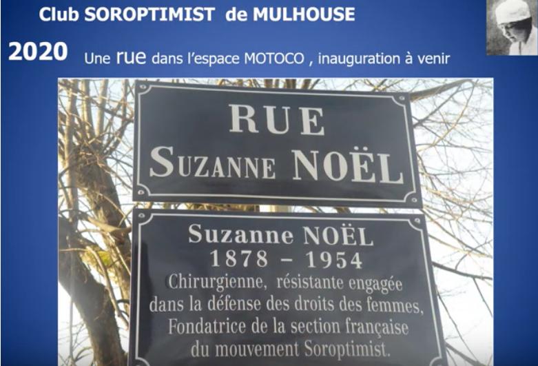 """Une rue """"Suzanne Noël"""" à Mulhouse"""