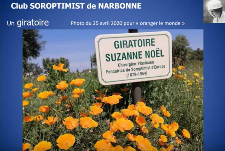 """Un giratoire """"Suzanne Noël"""" pour le SI club de Narbonne"""