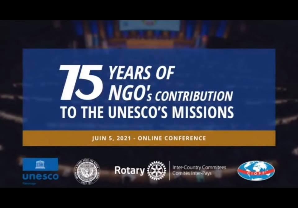 Le 75 ème anniversaire de l'UNESCO a été fêté le samedi 5 juin à 15 h  (heure de Paris)