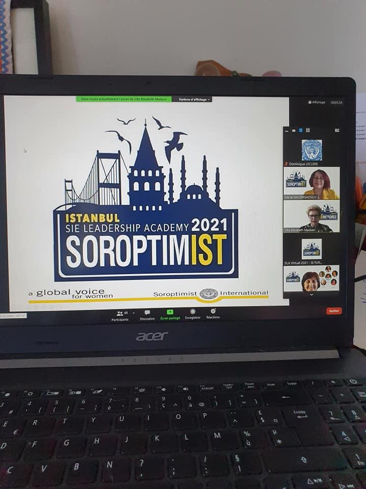 Soroptimist Leadership Academy organisée par l'Union de Turquie du 5 au 10 juillet 2021.