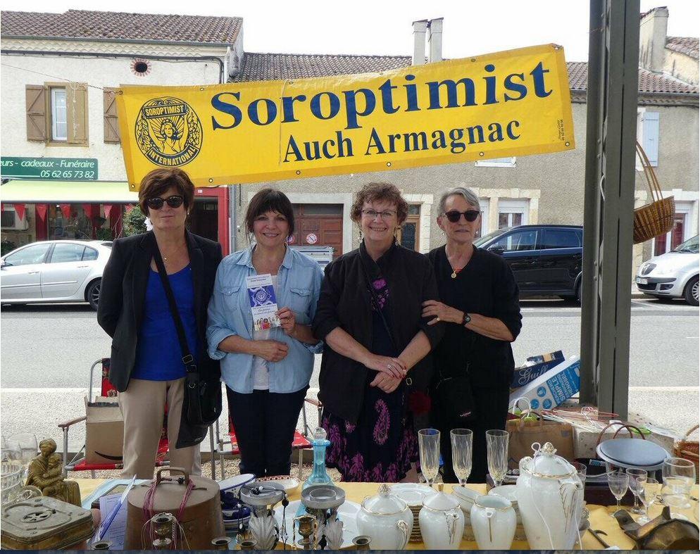 Le Club Soroptimist Auch-Armagnac avec des bénévoles très investies