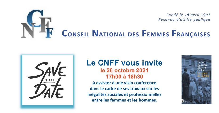 Conférence du CNFF le 28 octobre de 17 h à 18 h 30 ( CET)