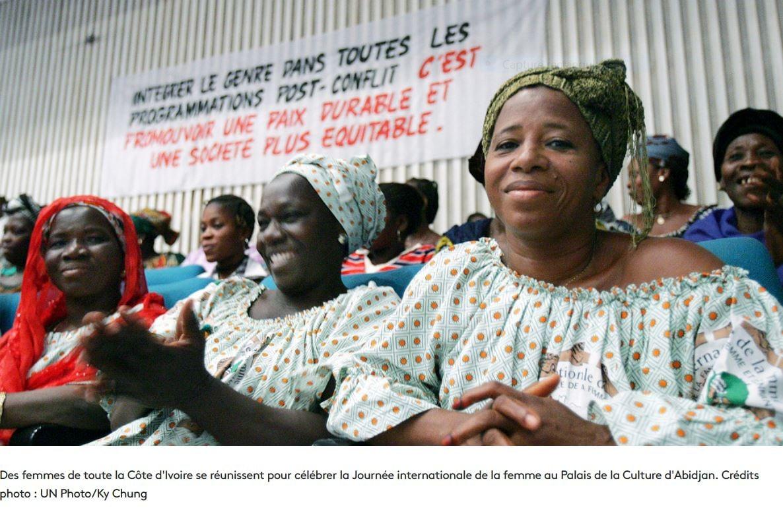 Les femmes, indispensables actrices de la paix.